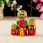 Matryoshka Semenovskaya, 4 doll, 9х4 cm