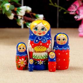 """Матрёшка """"Каравай"""", 5 кукольная, 11х5 см"""