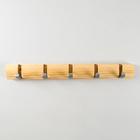 Навесная вешалка с 5 крючками 46×5,5×2,8 см