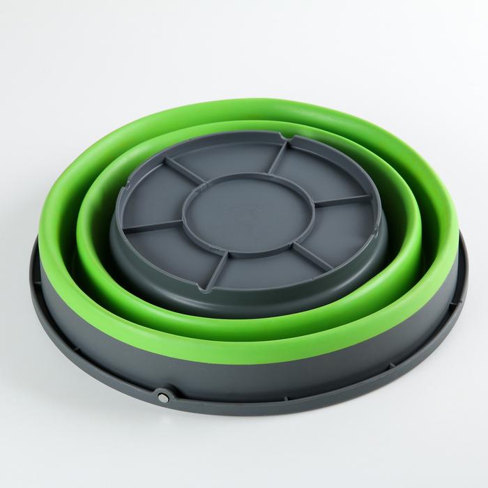 Ведро складное 9,8 л, d=31 см, цвет зелёный