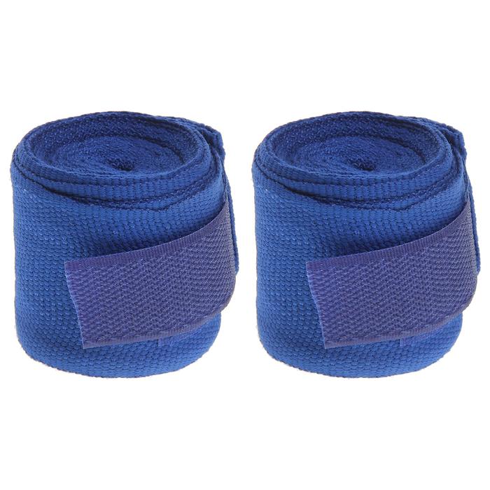 Бинт боксерский 3 м, цвет синий