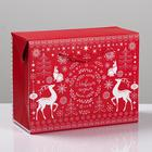 Пакет—коробка «Волшебство праздника», 23 × 18 × 11 см