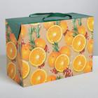 Пакет—коробка «Весёлого и яркого Нового года», 28 × 20 × 13 см