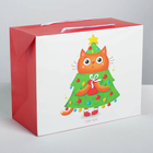 Пакет—коробка «Поздравляю!», 28 × 20 × 13 см
