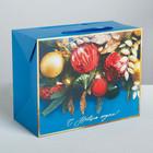 Пакет—коробка «С Новым годом!», 28 × 20 × 13 см