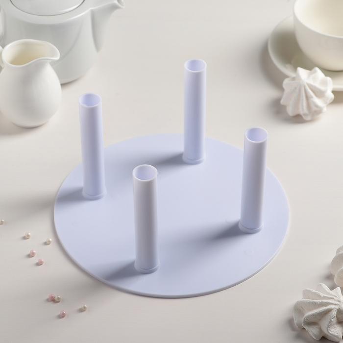 Подставка для разделения уровней торта d=20 см, 4 держателя 10×1,8 см
