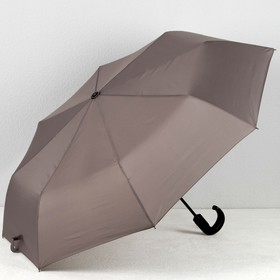 Зонт автоматический «Однотонный», 3 сложения, 8 спиц, R = 51 см, цвет серый, M-1814