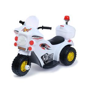 Детский электромобиль «Мотоцикл шерифа», цвет белый в Донецке