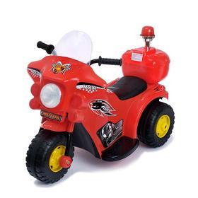 Электромобиль «Мотоцикл шерифа», цвет красный