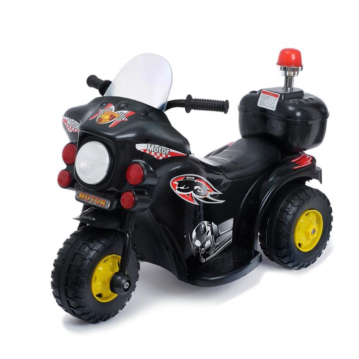 Электромобиль «Мотоцикл шерифа», цвет чёрный