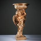 """Фигурное кашпо """"Ангел с чашей над головой"""" огромный 90см бронза"""