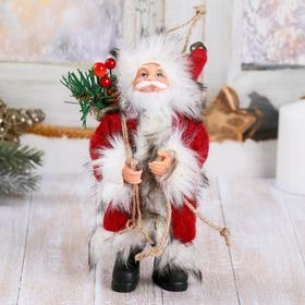Santa Claus in red coat with forest Goodies 16 cm