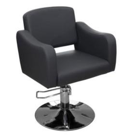 Кресло парикмахерское Ева, пятилучье, цвет чёрный 65х63 см