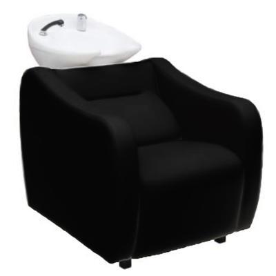 Мойка парикмахерская Идеал Эко с глубокой раковиной, цвет чёрный, кожух черный