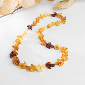 """Beads """"amber"""" boats 45cm, color"""