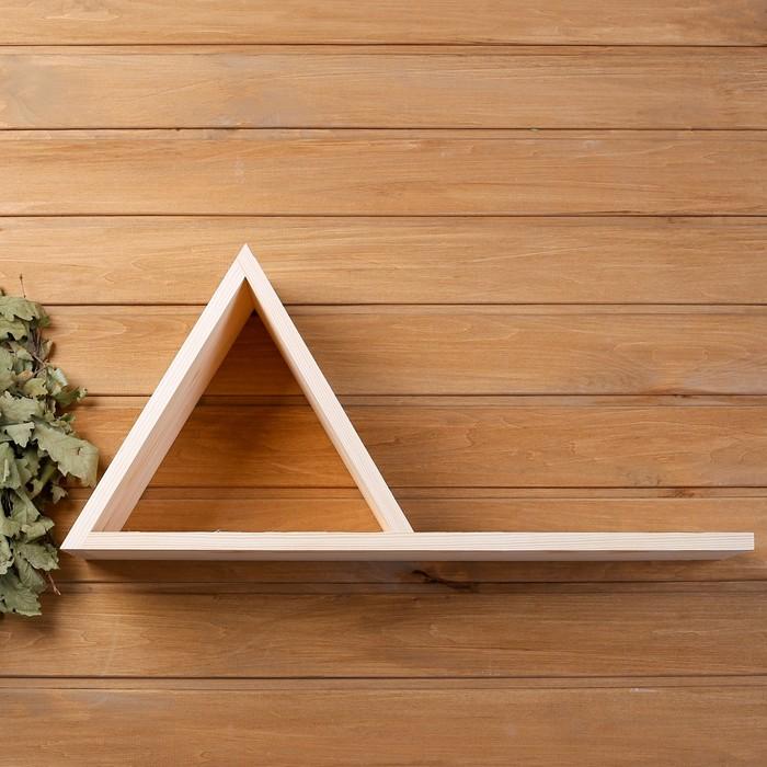 """Полка """"Пирамида"""" из СОСНЫ, 60х14х28 см"""