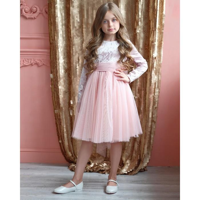 Платье нарядное детское KAFTAN, рост 110-116 см (32), розовый