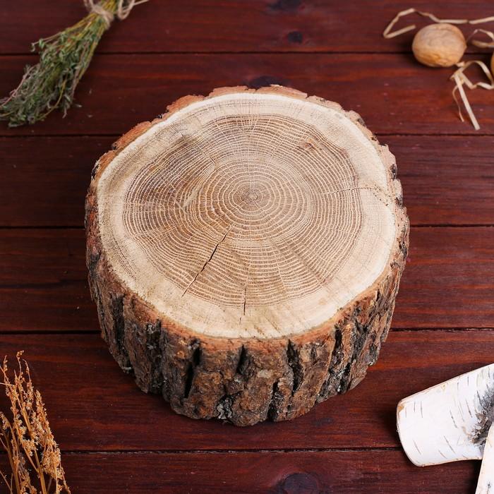 Спил дуба, шлифованный с одной стороны, 15-20 см, толщина 7-8 см, с корой
