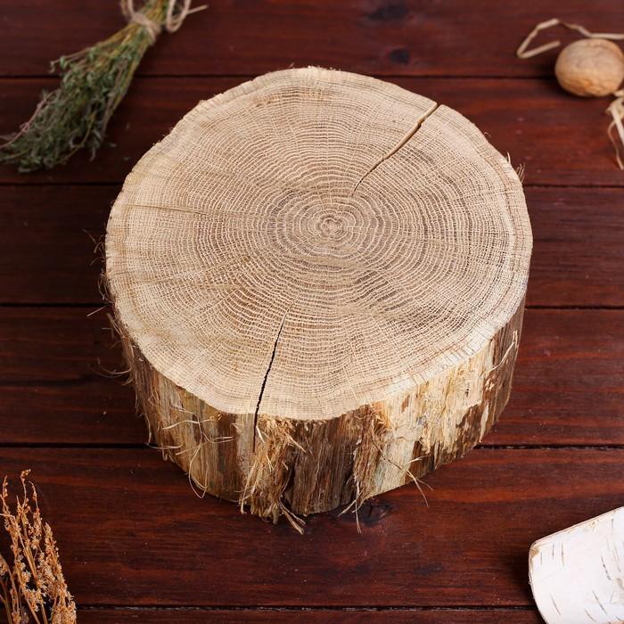 Спил дуба, шлифованный с одной стороны, диаметр 15-20 см, толщина 8-9 см