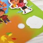 Игрушка развивающая «Весёлые липучки. Блокнот. Времена года» - фото 105527300