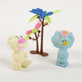 "Growing animals set ""Bears"" (2 bears, 2 leaf, palm) MIX"