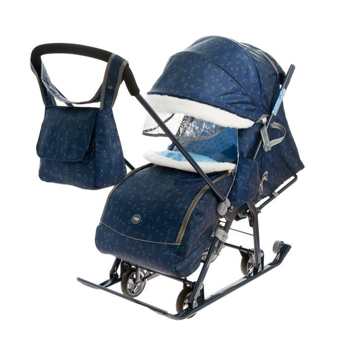 Санки коляска «Ника Детям НД 7-1Б», принт северный