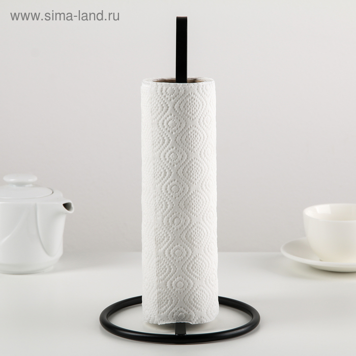 "Stand for paper towels 15×15×28 cm ""Loft"", black"