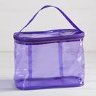 Косметичка-сумочка, отдел на молнии, с ручкой, цвет фиолетовый