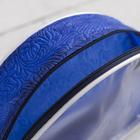 Косметичка ПВХ, отдел на молнии, цвет синий - фото 1770897