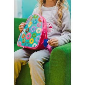 Рюкзак детский 'Сладкие пончики', 21*7*25 розовый Ош