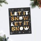Card-card Let it snow font, 8.8 × 10.7 cm
