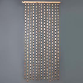 """Эко-занавеска деревянная """"Спилы"""", 180х80 см, спил дуба"""