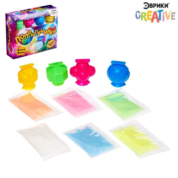 Набор для опытов «Попрыгунчики», 4 формы, 6 цветов