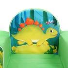 Мягкая игрушка-кресло «Динозавры», цвет зелёный - фото 1003876