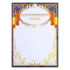 """The letter """"gold ribbon"""" blue frame"""