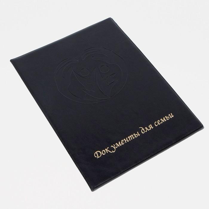 Обложка документы д/семьи, 22,5*1,0*31, с вкладышами ПВХ, черный