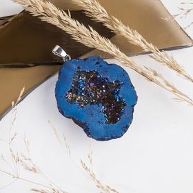 "Pendant ""Pyrite"" tumbling, color blue"