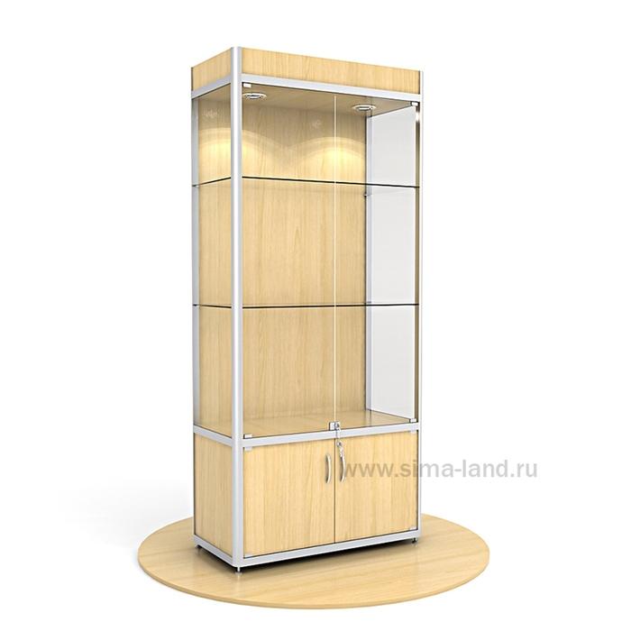 Витрина из профиля, подсветка, ХДФ, 2000х900х400, цвет бук