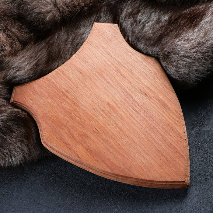Медальон для охотничьих трофеев «Волк», некрашеная, 33х25 см, массив бука