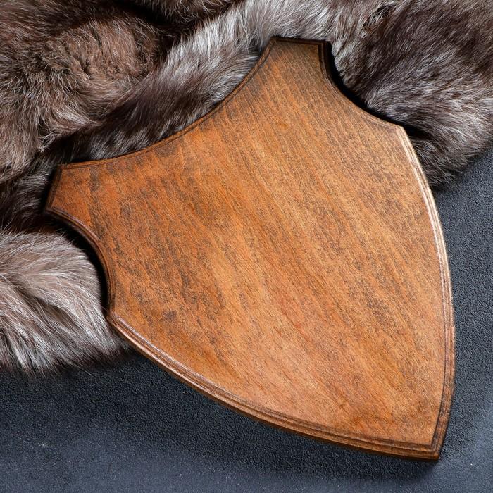 Медальон для охотничьих трофеев «Волк», крашеная, 33х25 см, массив бука