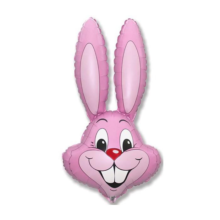 """Шар фольгированный 11"""" """"Кролик"""", цвет розовый - фото 130376820"""