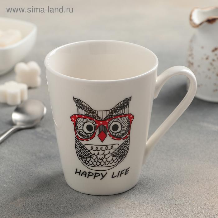 """Mug 320 ml """"Owl hipster"""""""