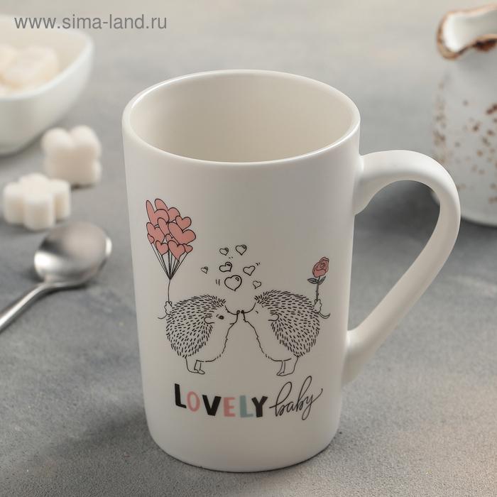 "Mug 380 ml of ""Love hedgehogs"""