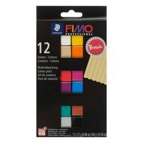 Полимерная глина запекаемая набор FIMO professional, 12 цветов по 25 г