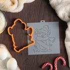 """Форма для вырезания печенья и трафарет """"Забавный мышонок в шапочке с шарфиком"""", цвет МИКС"""