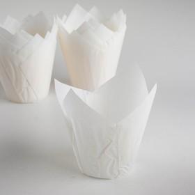 Форма бумажная 'Тюльпан', белый, 5 х 8 см Ош