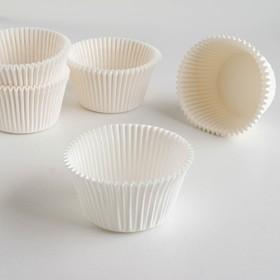 Тарталетка, белая, 5,5 х 4,3 см Ош