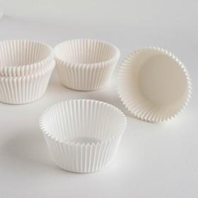 Тарталетка, белая, 5,5 х 3,5 см Ош
