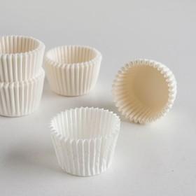Тарталетка, белая, 3 х 2,4 см Ош