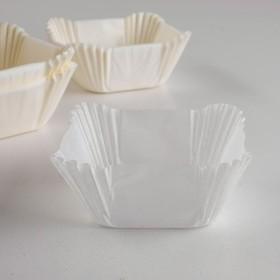 Тарталетка, форма квадрат, белая, 6 х 6 х 3,5 см Ош
